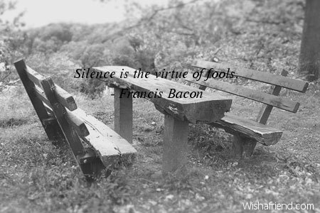 """virtue of silence Remember when you were a kid (or, if you are a kid, cast your mind back to maybe last week), when your mom told you """"silence is a virtue"""" yeah, i remember that, too."""