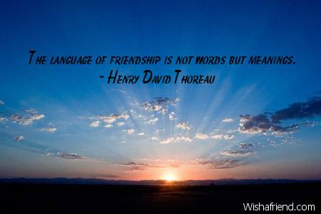 Henry david thoreau essay on friendship